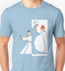 Samurai Jack againts Aku Unisex T-Shirt