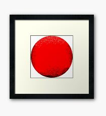 red circle Framed Print