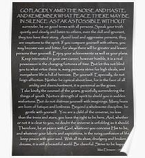 Desiderata | Credo For Life | Inspirational Print Poster