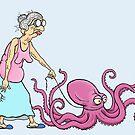 Granny & Octopus  by Jed Dunstan