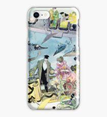 Future of Flat Earth Paris Air Travel Year 2000 Futuristic All Over Print iPhone Case/Skin