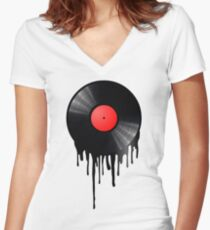Hot Wax Women's Fitted V-Neck T-Shirt