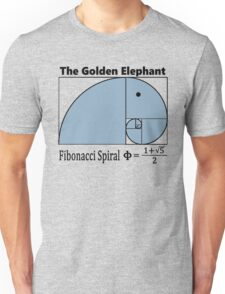 Fibonacci Spiral – The Golden Elephant Unisex T-Shirt