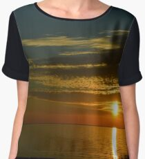 Sunset over the Great Lakes Chiffon Top