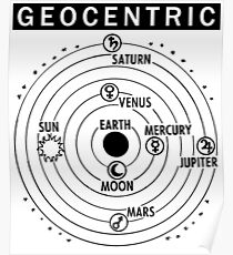 Flat Earth Designs - GEOCENTRIC (Flat Earth Cosmology) Poster