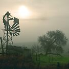 Windmill in the Fog by Christine Smith