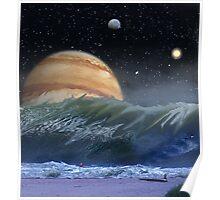 """Alien Landscapes-""""Surfs up-Evers Pipe"""" Poster"""