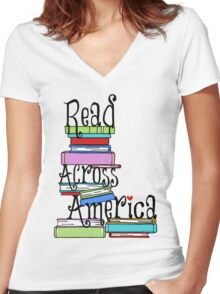 read across america Women's Fitted V-Neck T-Shirt