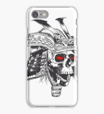 black and white samurai helmet with skull iPhone Case/Skin
