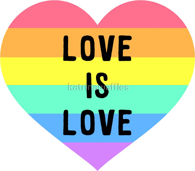 Love is love rainbow heart