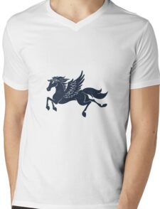 blue pegasus Mens V-Neck T-Shirt