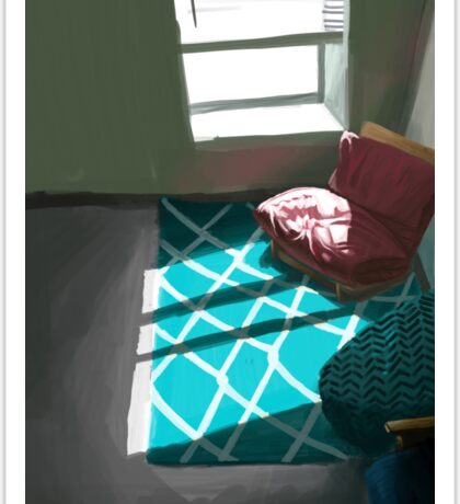 Sunlight In a Lonely Room Sticker