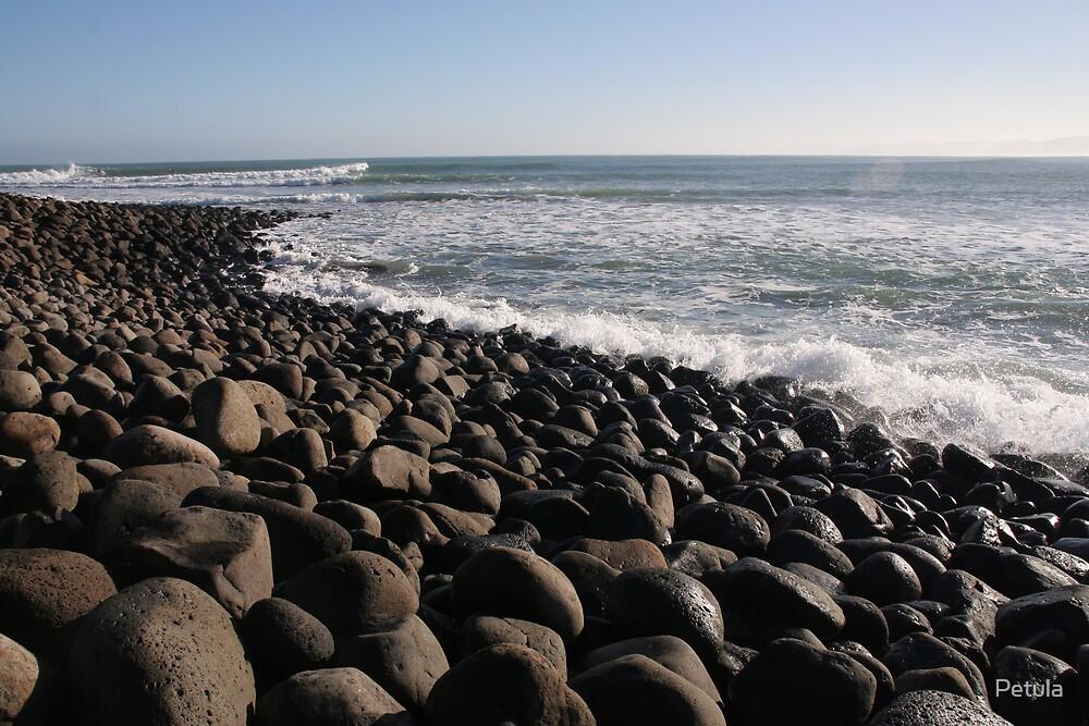 Harmony in ocean & rocks by Petula