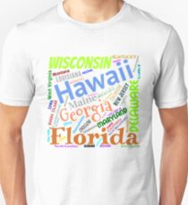 Fifty States of America Unisex T-Shirt