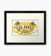 El Jefe Cubanos Food Truck Framed Print