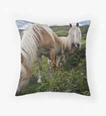 In the alpine meadows Throw Pillow