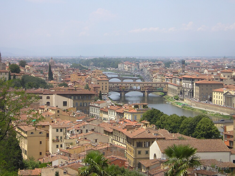 Casa del Sole: River Arno & Florence Rooftops by Sarah  Fraser