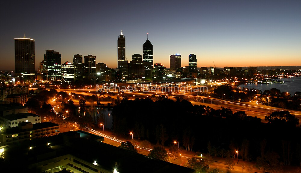 Perth Skyline by Michael  Bermingham