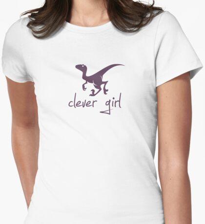 Clever Girl Dinosaur Velociraptor Womens Fitted T-Shirt
