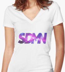SDMN Women's Fitted V-Neck T-Shirt
