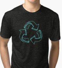 Recycle Green Tri-blend T-Shirt
