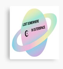 LOST SOMEWHERE IN SPACE  Canvas Print