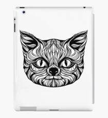 muzzle cat head, tattoo graphics, vector illustration iPad Case/Skin