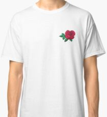 Embroidered Rose Classic T-Shirt