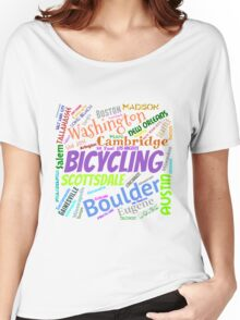 Cycling Best Cities Women's Relaxed Fit T-Shirt