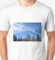 Forest trees against the cloudy sky T-Shirt