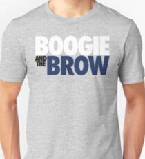 Boogie And The Brow (White/Black/Blue) Unisex T-Shirt