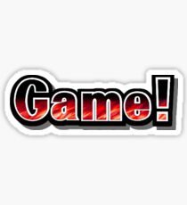 "Super Smash Bros. Melee - ""Game!"" Sticker Sticker"