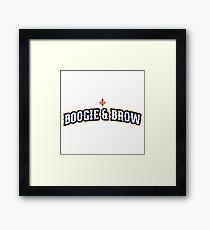 Boogie & Brow Framed Print