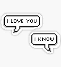 """""""ich liebe dich ich weiss"""" Sticker"""