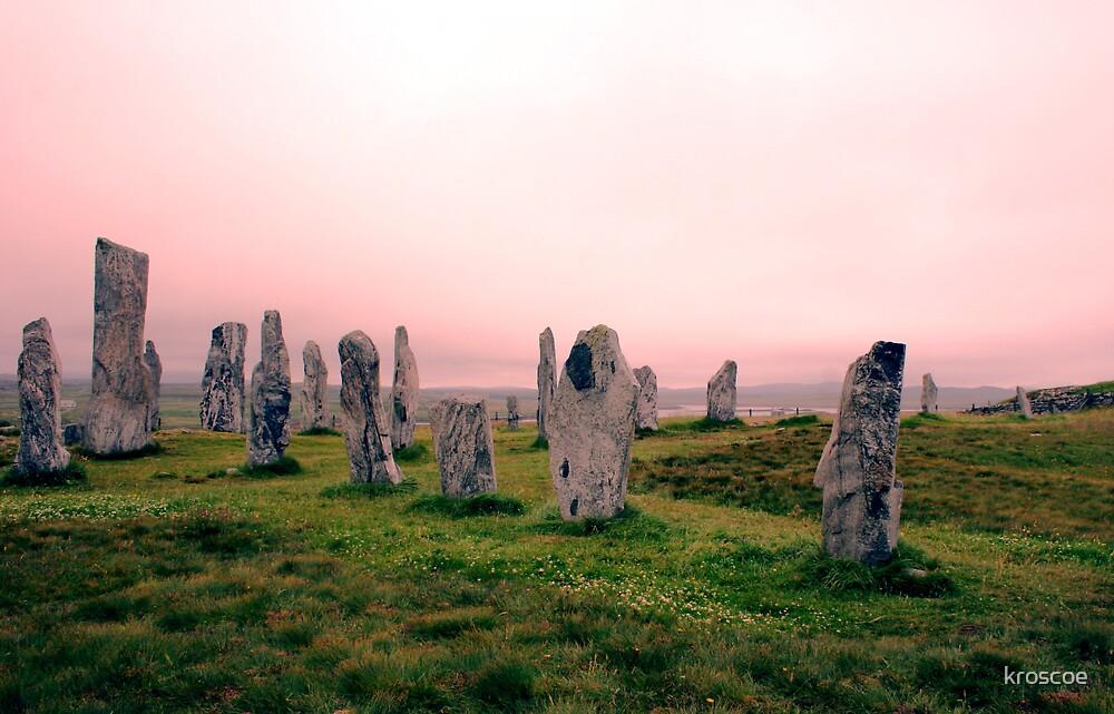 Calanais Stones by kroscoe