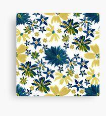 Modern bohemian hand paint floral Canvas Print