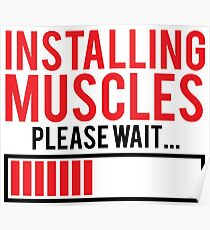 Installing Muscles (red) Poster