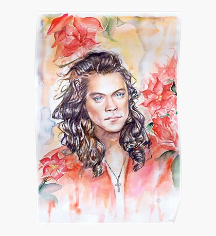 Harry in red magnolias! Poster