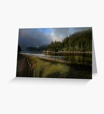 Dark = Clouds at Dusk Greeting Card