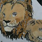 lions painting by oilersfan11