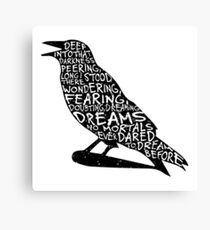 Quoth the Raven Canvas Print