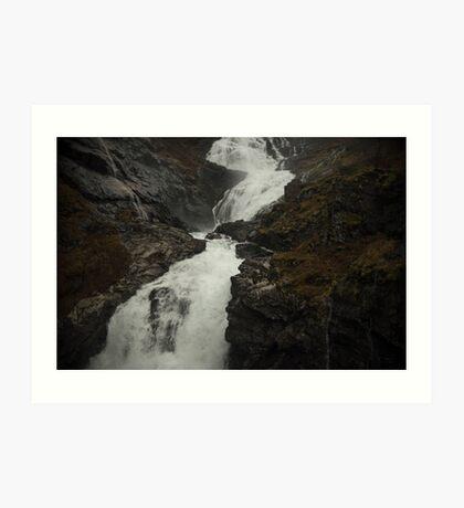 Wildwasser Kunstdruck