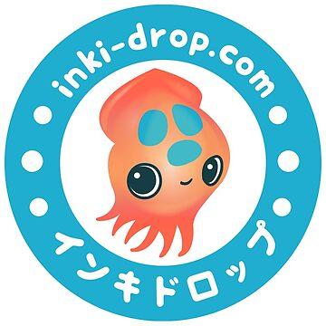 inki-Drop Ika Mascot Logo by shellyrodriguez