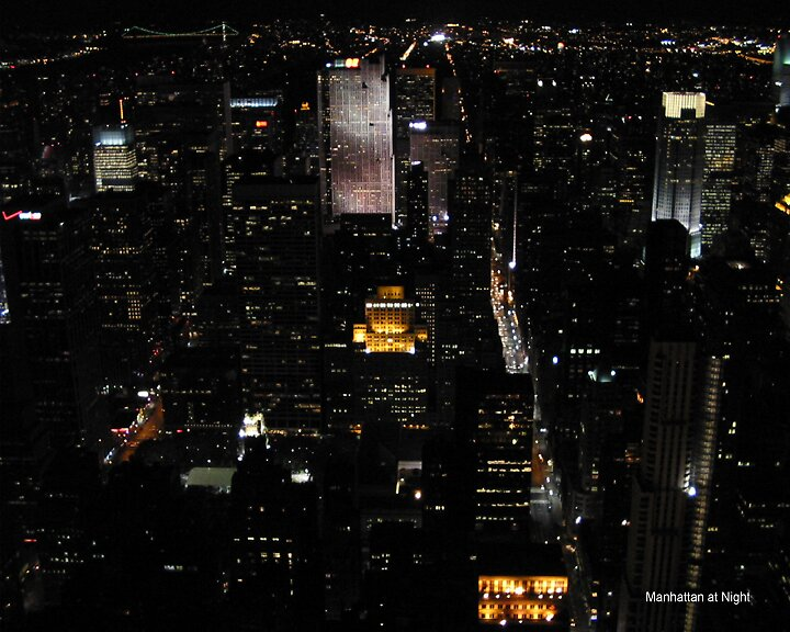 Manhattan at Night by alanlowney