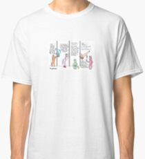 A Typical Day in Pole Class Cartoon Classic T-Shirt