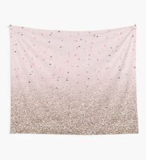 Rose gold gradient and spots Wall Tapestry