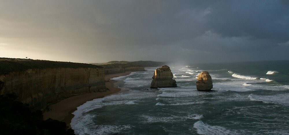Sun over Apostles by Marshall Taylor