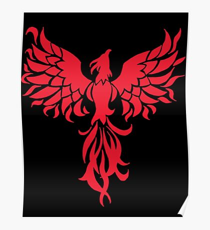 Abstract Red Phoenix Poster