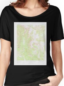 USGS TOPO Map Colorado CO Chama Peak 402242 1957 62500 Women's Relaxed Fit T-Shirt