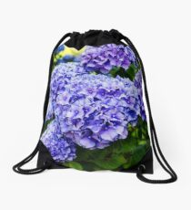 purple hydrangea Drawstring Bag